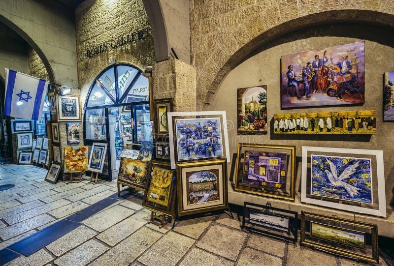Cardostraat in Jeruzalem royalty-vrije stock afbeelding