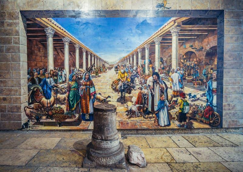 Cardostraat in Jeruzalem royalty-vrije stock afbeeldingen