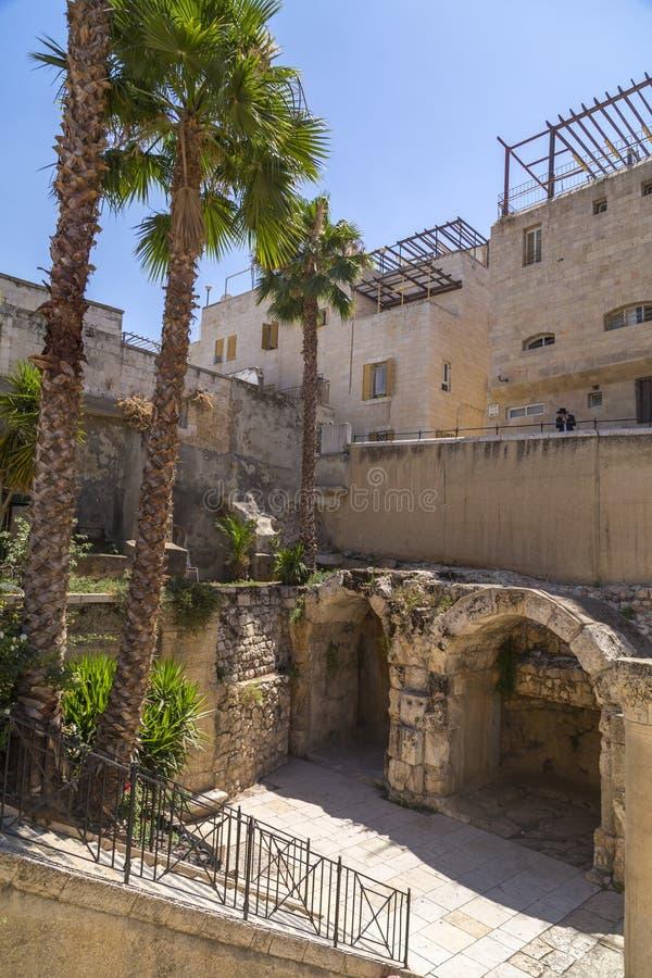 Cardostraat, Jeruzalem, Israël stock foto