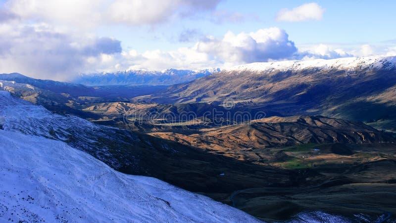 Cardrona, Новая Зеландия стоковое изображение