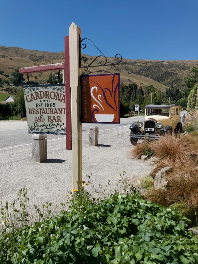 Cardrona Hotel - Restaurant and Bar is one of New Zealand`s oldest and most iconic hotels that is popular amongst visitors royalty free stock photo