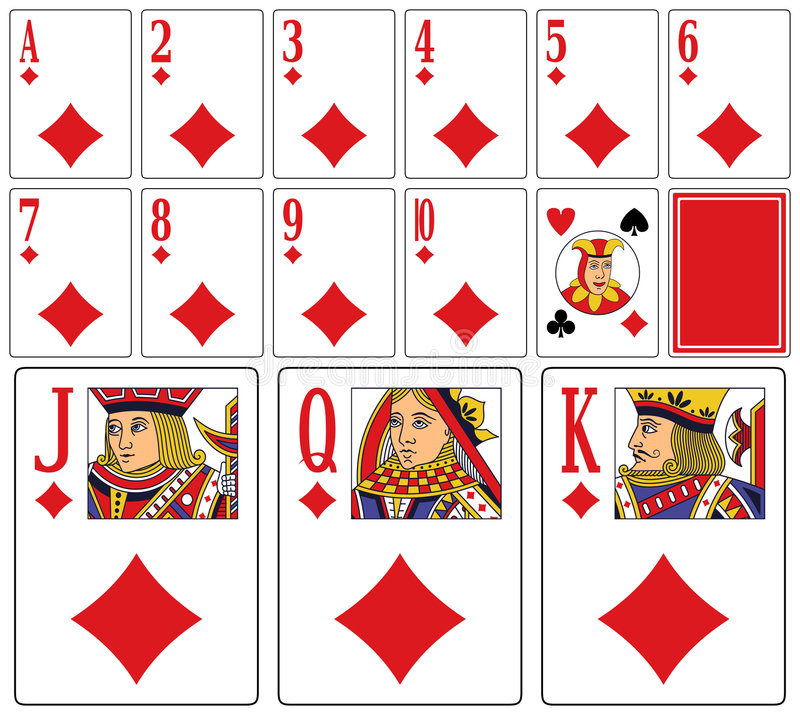 cards att leka för kasinodiams vektor illustrationer