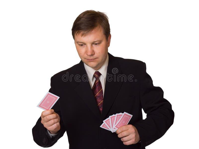 cards att leka för män arkivfoton