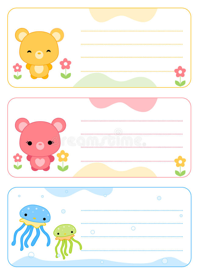 cards barnnamn vektor illustrationer
