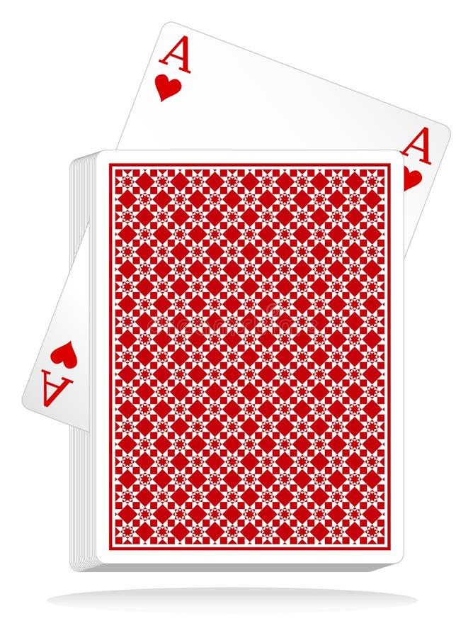 cards den leka vektorn royaltyfri illustrationer