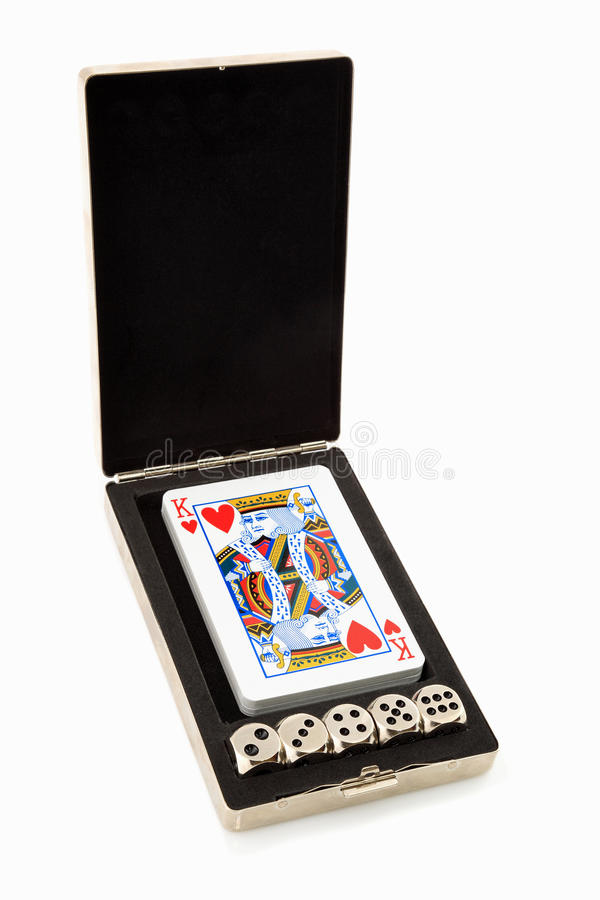 Cards and Dice stock images