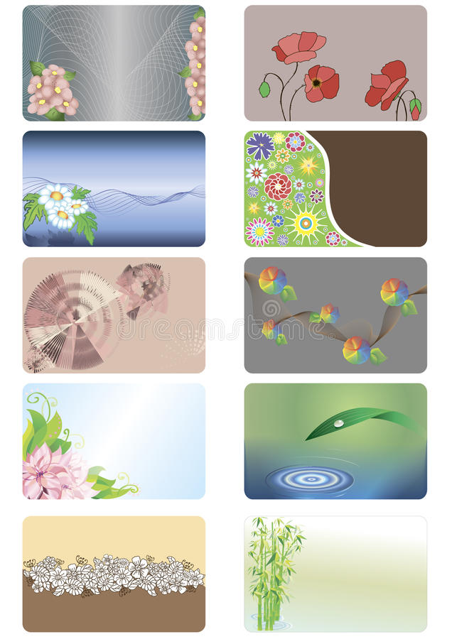 Download Cards With Floral Background Stock Vector - Image: 19637694