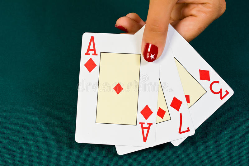 Download Cards In The Hand. Stock Photo - Image: 25757480