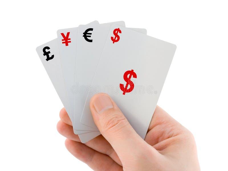 cards handpengar arkivfoto
