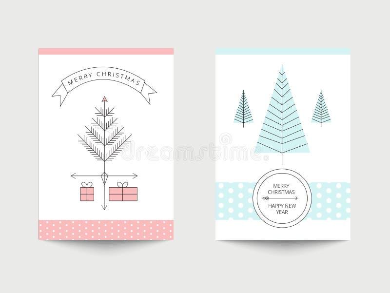cards jul som tecknar modellera plasticine stock illustrationer