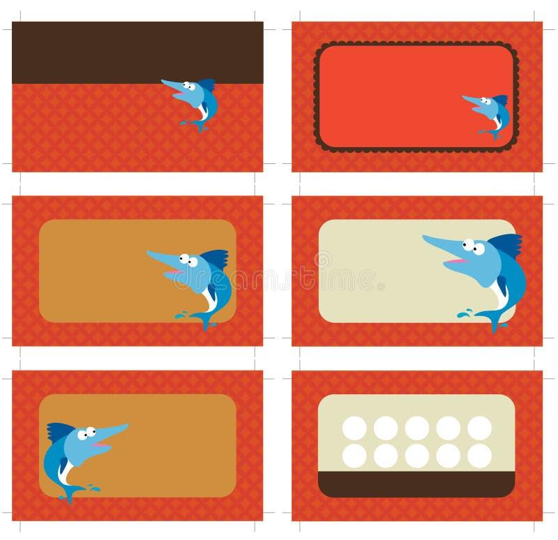 cards kortet för affären 3 5x2 promo royaltyfri illustrationer