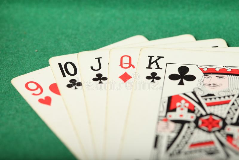 Cards Laydown Straight