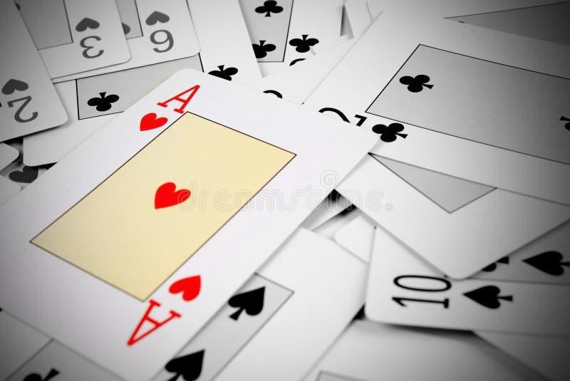 cards poker arkivfoto