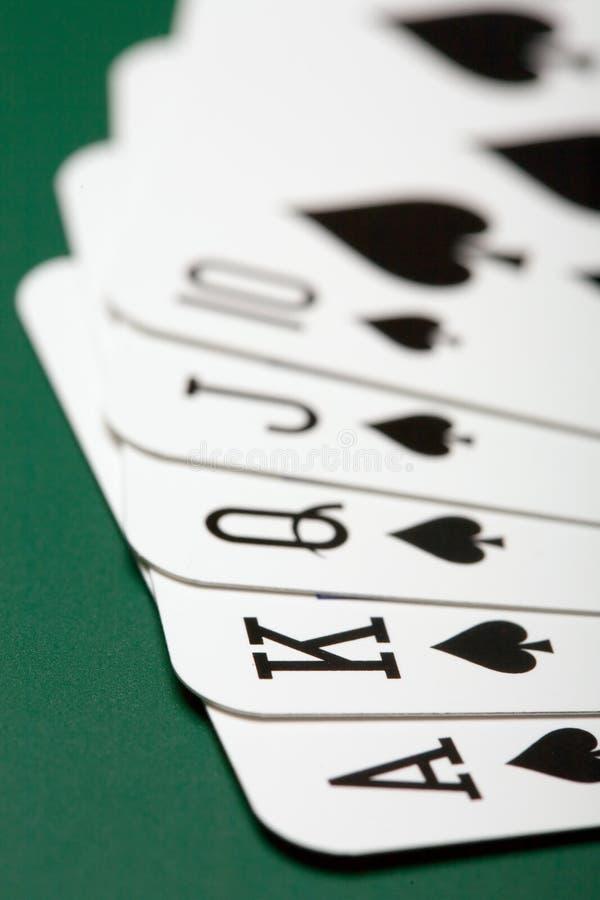 cards poker arkivfoton