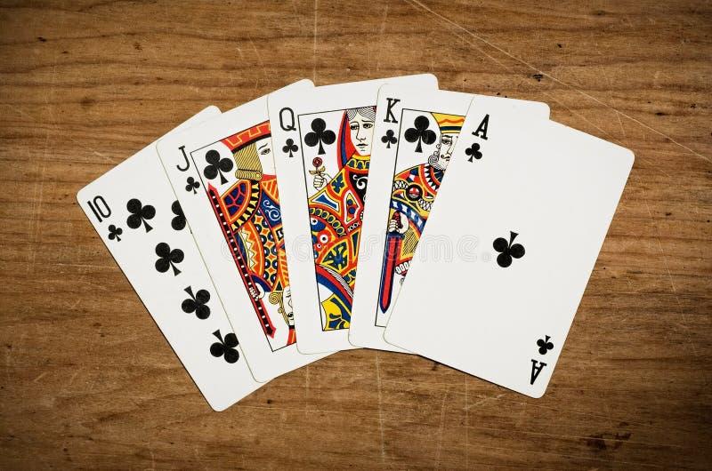 cards poker royaltyfri bild