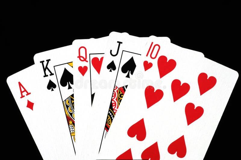 cards poker royaltyfria bilder