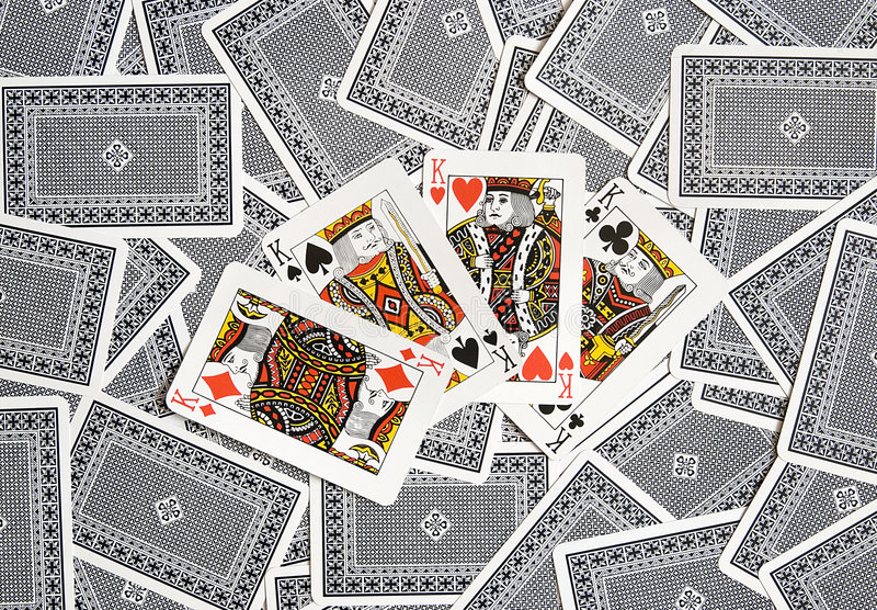 cards poker royaltyfri bild