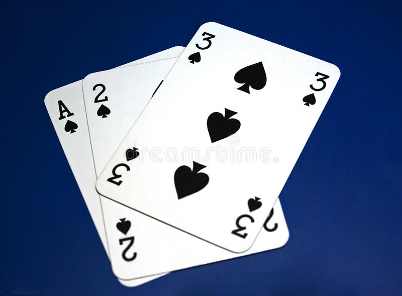 Cards on table royalty free stock photography