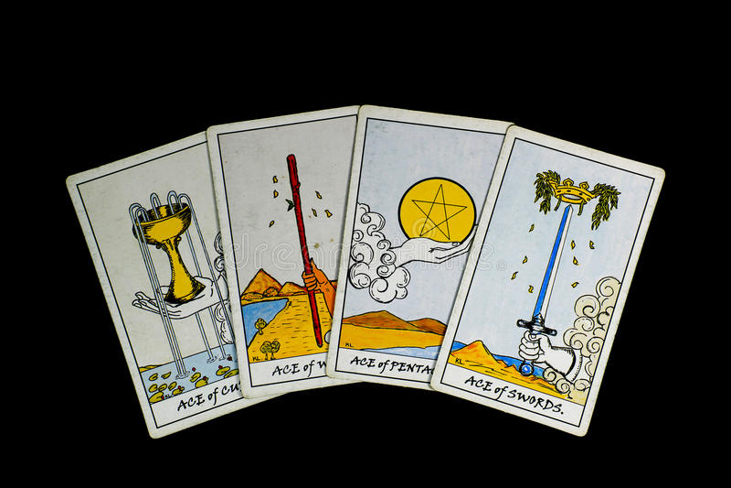 cards tarot royaltyfria foton