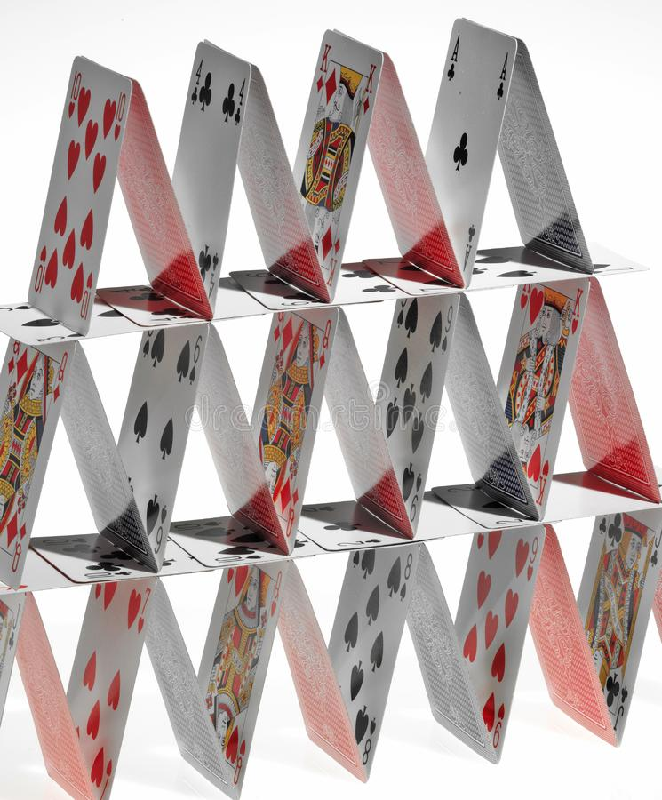 Cards tower royalty free stock image