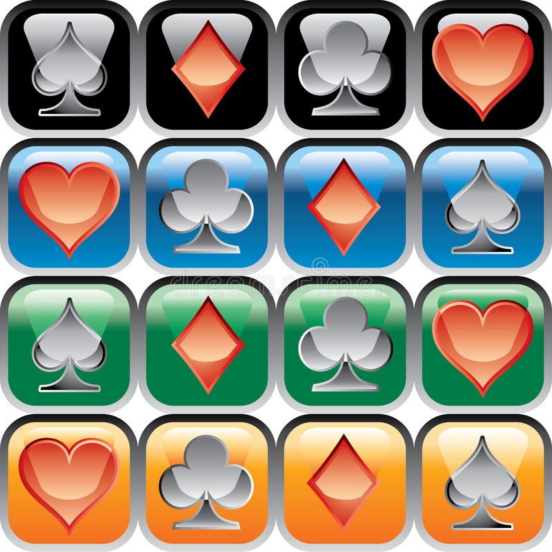 Download CARDSbuttons stock vector. Image of deck, hearts, navigation - 3759167