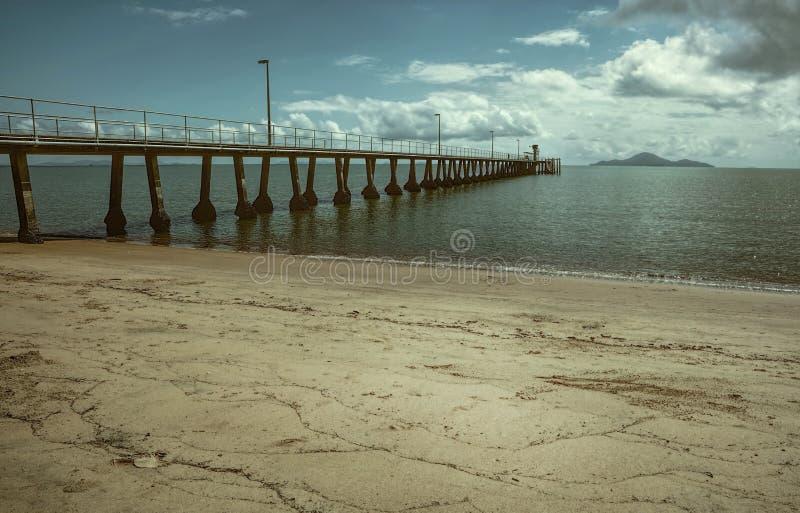 Cardwell brygga Queensland royaltyfria bilder