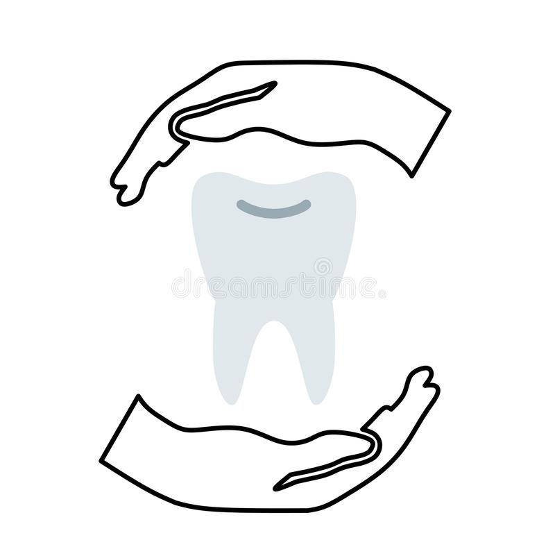 Care for caring patient help TOOTH teeth problem service concern love safe. Dentistry care1 caring patient help tooth teeth problem service concern love safe stock illustration