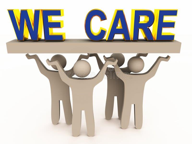 We care for customer stock illustration