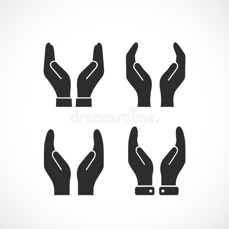 Care hands vector icon royalty free illustration