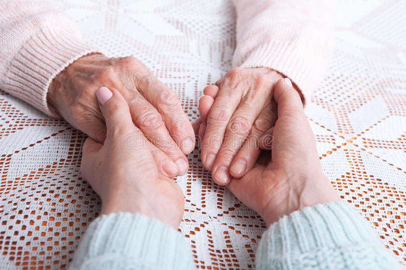 Download Care Is At Home Of Elderly. Senior Woman With Their Caregiver At Home. Concept Of Health Care For Elderly Old People Stock Image - Image of care, closeup: 90956401