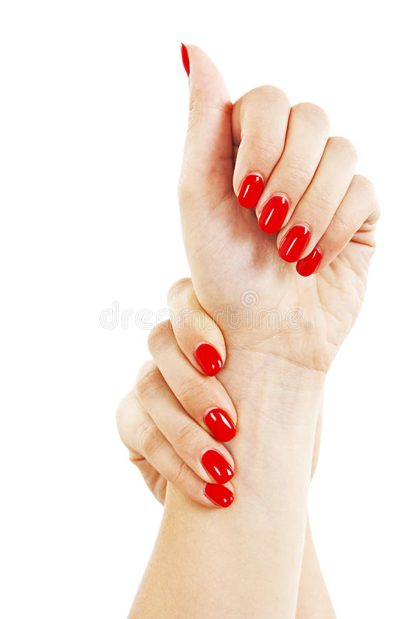 Care For Sensuality Woman Nails Royalty Free Stock Photography