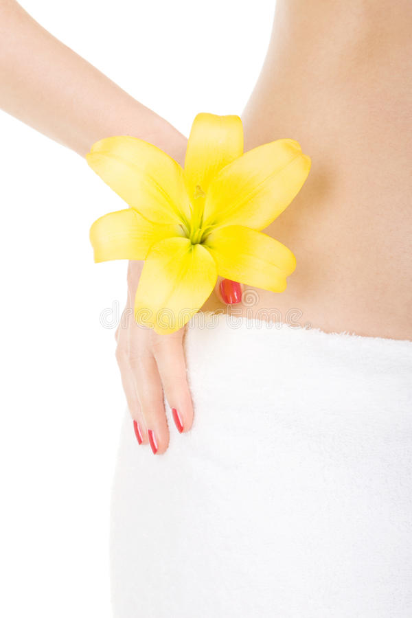 Care for woman body stock photography