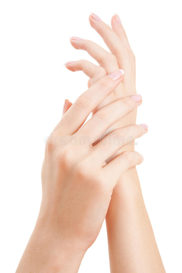 Care for woman hands royalty free stock photography