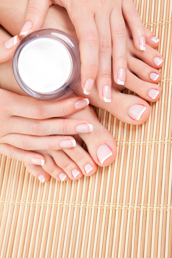 Care for woman skin stock images