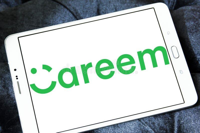 Careem transportation network company logo. Logo of Careem transportation network company on samsung tablet . Careem is a transportation network company based in stock photos