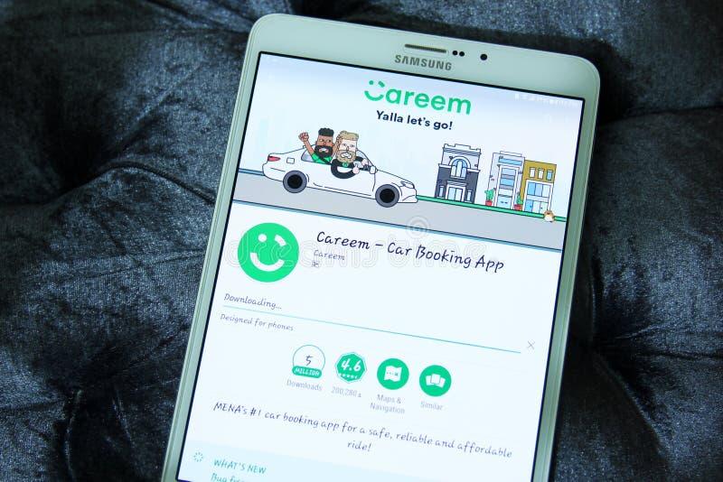 Careemauto die app boeken royalty-vrije stock afbeeldingen
