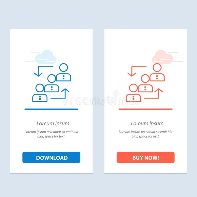 Career, Advancement, Employee, Ladder, Promotion, Staff, Work  Blue and Red Download and Buy Now web Widget Card Template stock illustration