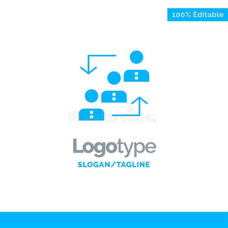 Career, Advancement, Employee, Ladder, Promotion, Staff, Work Blue Solid Logo Template. Place for Tagline vector illustration