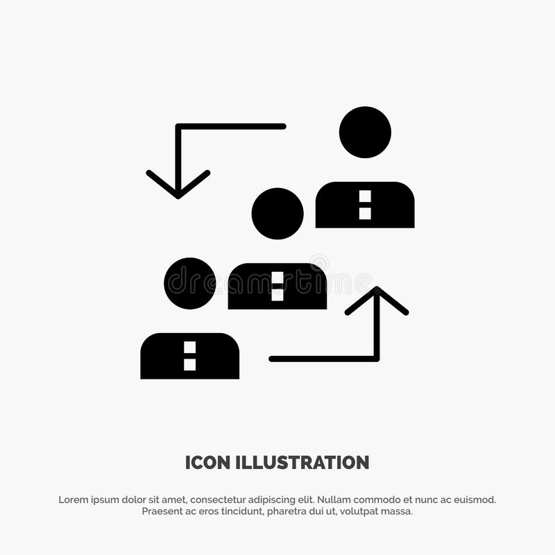 Career, Advancement, Employee, Ladder, Promotion, Staff, Work solid Glyph Icon vector vector illustration