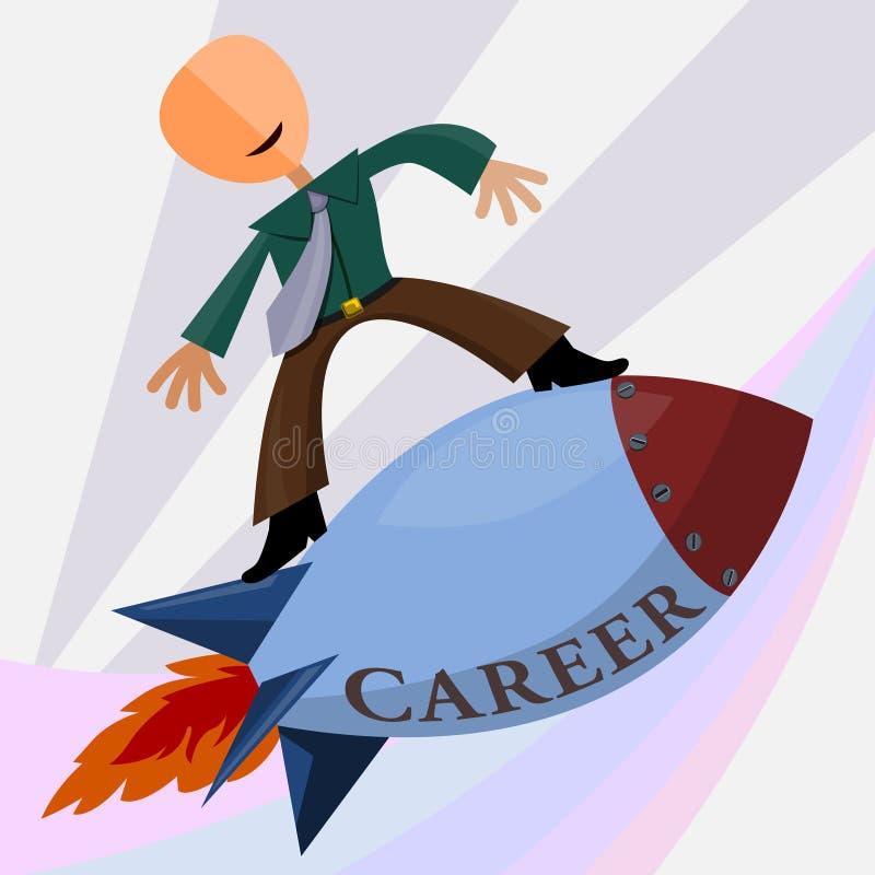 Career blast royalty free illustration