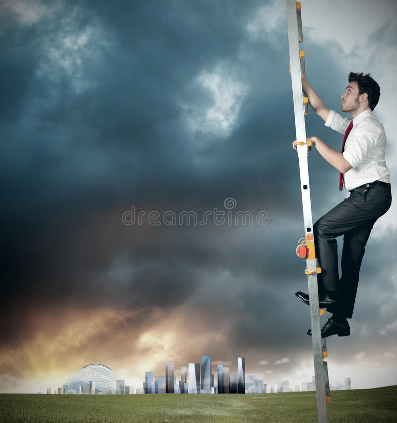 Career of a businessman royalty free stock photo