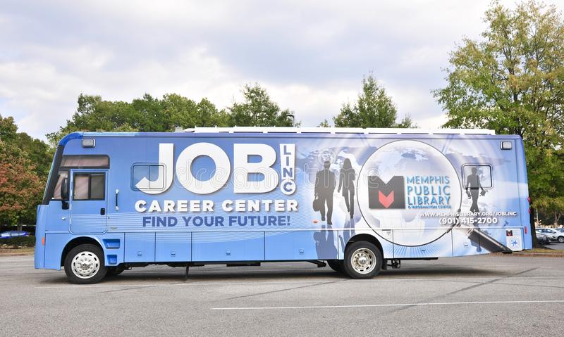 Career Center Bus royalty free stock images