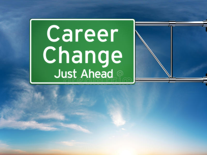 Career change just ahead concept vector illustration