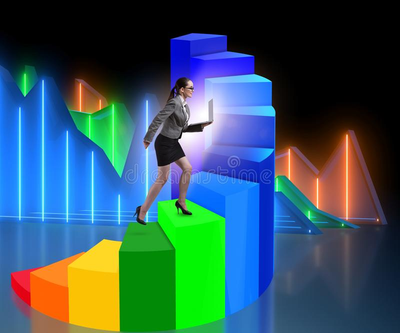 Career development with stairs in business concept stock photography
