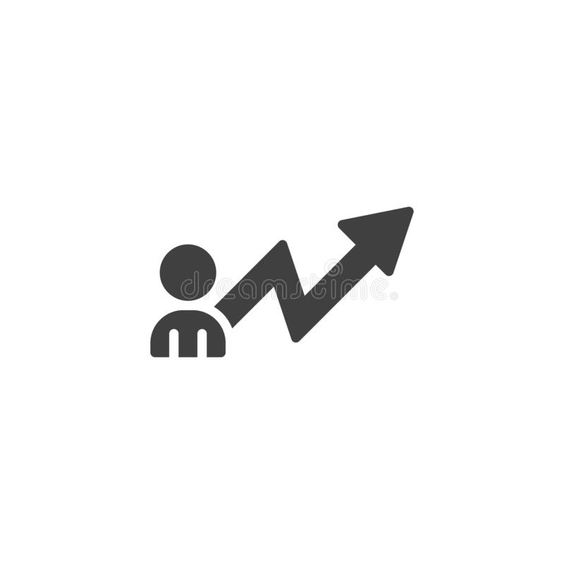 Career development vector icon royalty free illustration
