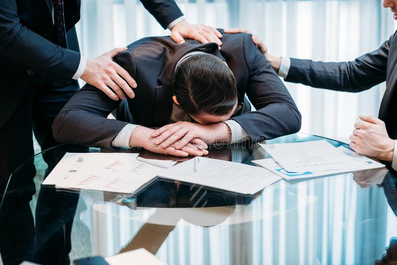 Career end business failure problem money loss man royalty free stock photo