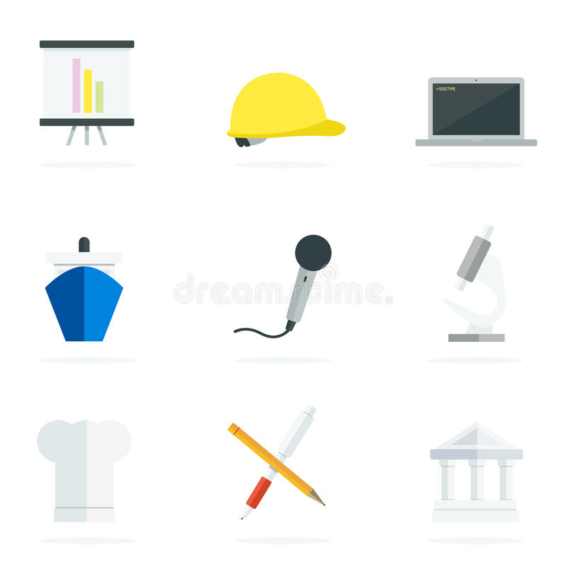 Download Career flat icons stock vector. Illustration of illustrated - 42301461