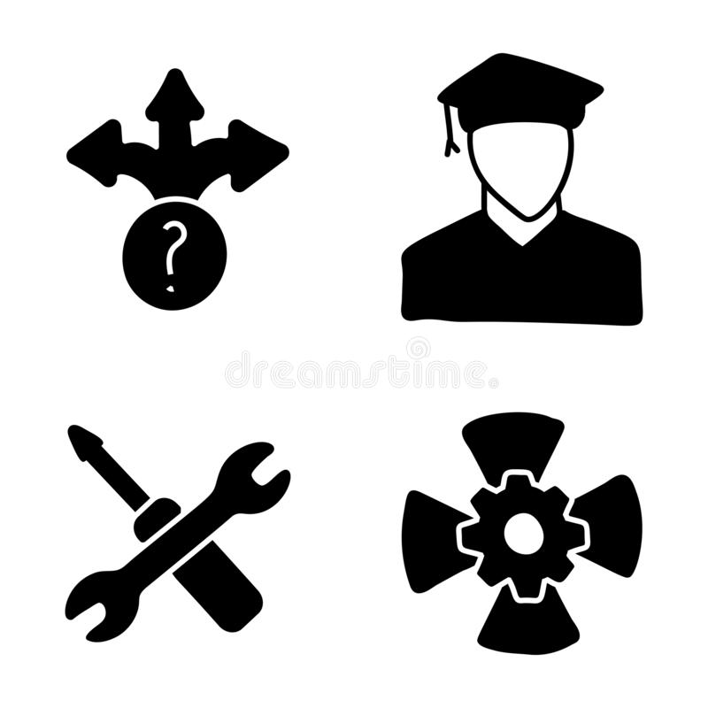 Career Glyph Icons vector illustration