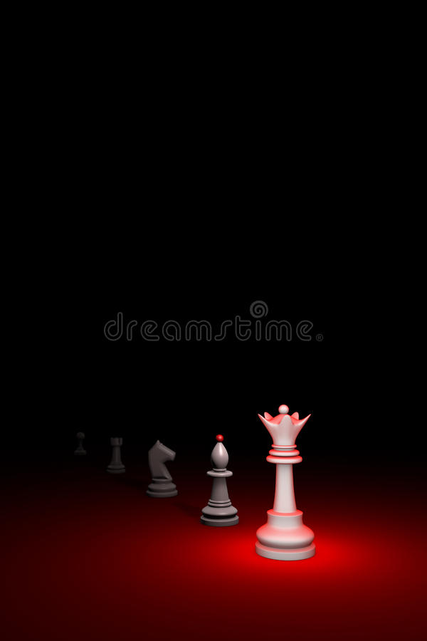 Career growth (chess metaphor). 3D render illustration. Free spa stock photography