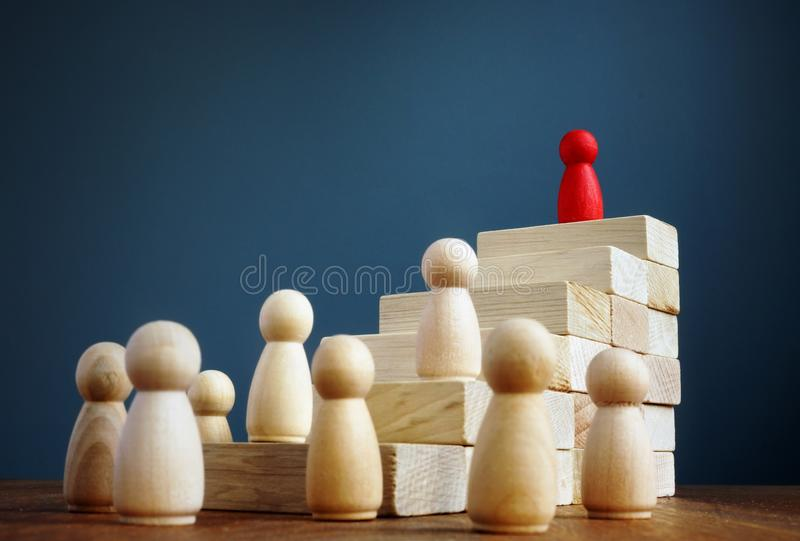 Career growth and development. Stairs from blocks royalty free stock photography